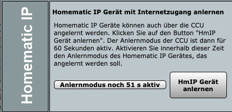 Homematic IP Alarmsirene HmIP Gerät anlernen