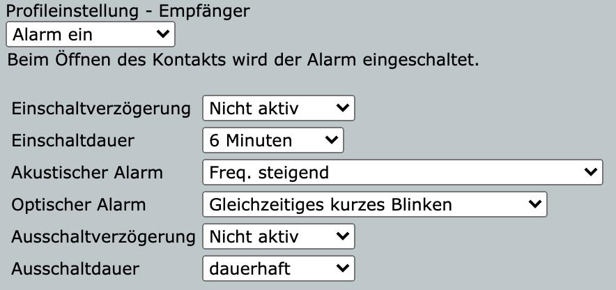 Homematic IP Tür- und Fensterkontakt mit Magnet Sirenen Konfiguration Direktverknüpfung