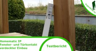 Homematic IP Fenster- und Türkontakt verdeckter Einbau