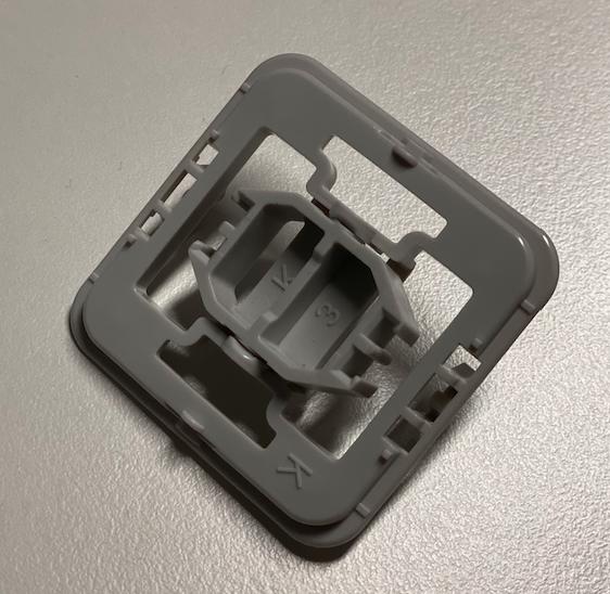 Homematic IP Wandtaster für Markenschalter 2-fach Wippe