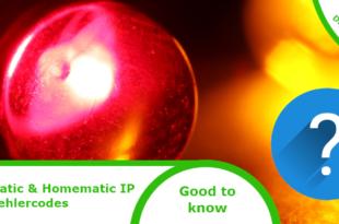 Homematic LED-Fehlercodes