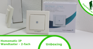 Homematic IP Wandtaster 2-fach Unboxing