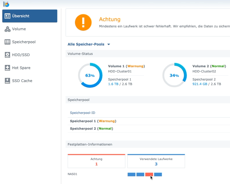 Synology Speicher-Manager