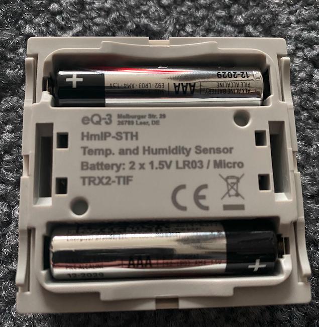 Homematic IP Wandthermostat Batterien
