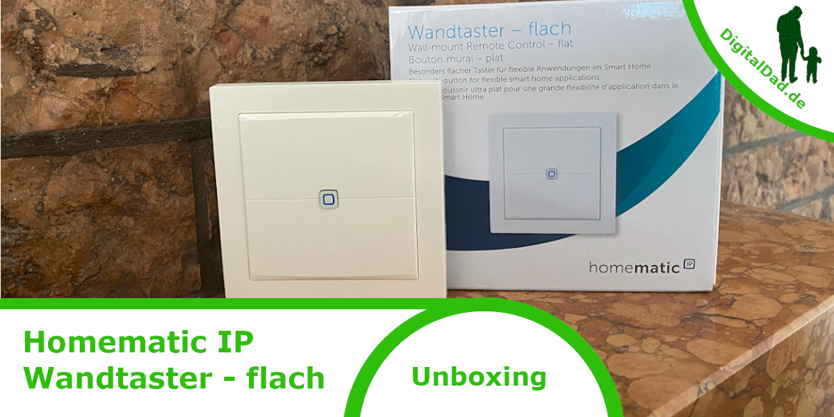 Homematic IP Wandtaster flach