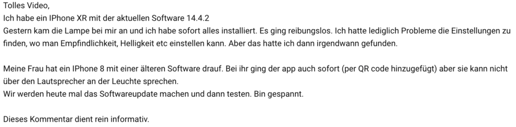 Steinel L600 Youtube Kommentar