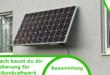 Solarmodulhalter – einfach selber bauen